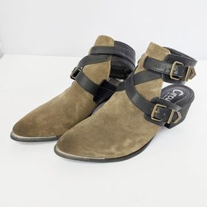 Circus by Sam Edelman army green booties 6.5